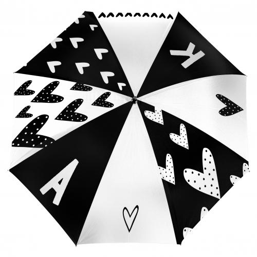 Зонт с Вашей монограммой «Сердца» от 2 990 руб