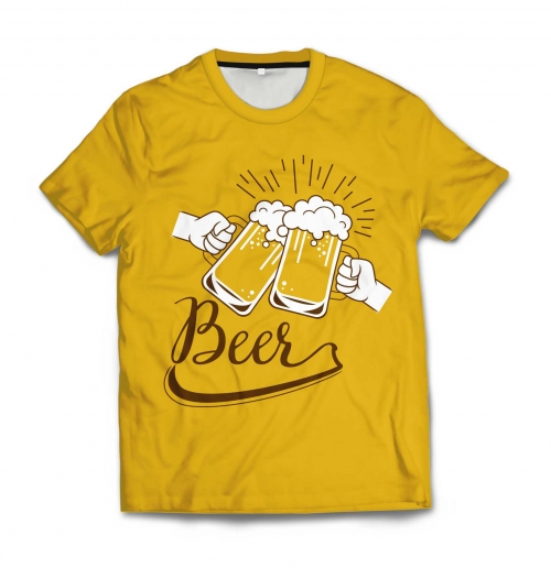 Мужская футболка 3D «Beer» от 1 490 руб