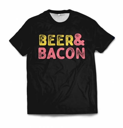 Мужская футболка 3D «Beer and bacon» от 1 490 руб