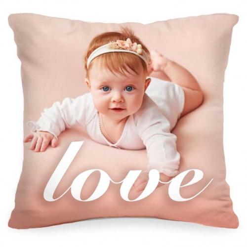 Подушка с фото Вашего ребенка и текстом «Love» от 1 460 руб